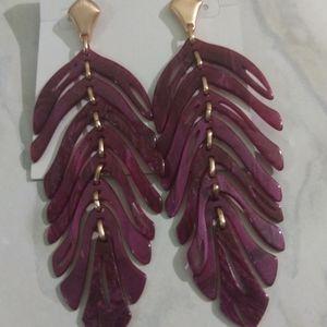 Kendra Scott Luca burgundy earrings